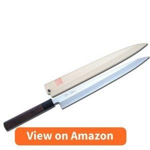 Yoshihiro Shiroko High Carbon Steel Kasumi Yanagi Shitan Handle Sushi Sashimi Chef Knife