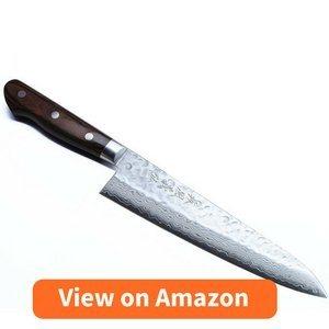 Yoshihiro VG10 16 Layers Hammered Damascus Gyuto Japanese Chefs Knife